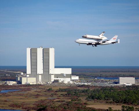 우주왕복선 컬럼비아. 케네디우주센터. ⓒ 위키백과