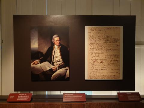 제임스 쿡 선장, 런던 그리니치 해양박물관.  ⓒ 박지욱