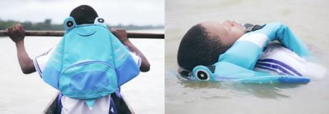 평소에는 가방 역할을 하다가 물에 빠지면 구명조끼로 변신하는 라이프세이버 ⓒ Mundo LUKI
