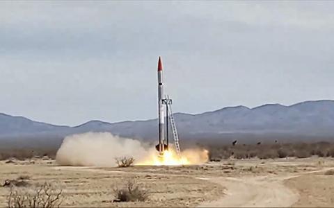 지난 10월 26일 엑소 에어로스페이스의 SARGE 로켓이 4번째 발사에 실패했다. © EXOS Aerospace