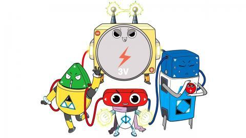 '척척척! 전자회로 만들기 키트'는 친근감 넘치는 만화 캐릭터들을 앞세워 전기회로의 기초 이론을 재미있게 학습할 수 있도록 고안했다.