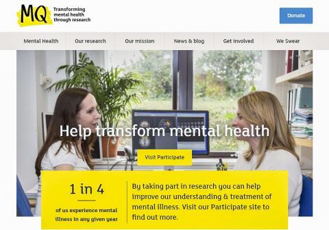 이번 연구는 영국의 정신건강 연구지원 자선단체인 MQ의 지원으로 진행됐다. 사진은 MQ의 홈페이지.  Credit: MQ homepage