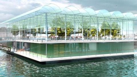 네덜란드 로테르담 시에 세계 최초로 물 위에 떠있는 수상 목장(floating farm)이 문을 열었다. ⓒ floatingfarm.nl