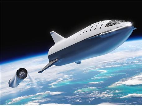 화성 탐사를 위한 발사체/우주선 개념도  @ https://www.businessinsider.com