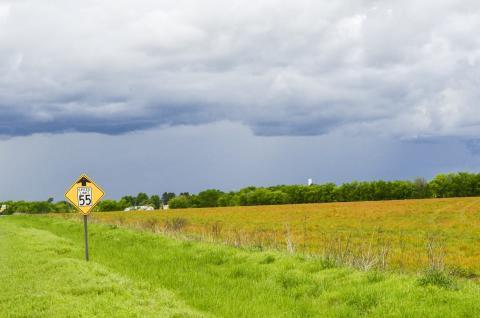 미국 오클라호마 동부지역의 농장 모습. 연구팀이 동시 열파에 취약한 지역으로 발견한 곳 중의 하나다.  CREDIT: Kevin Krajick/Earth Institute