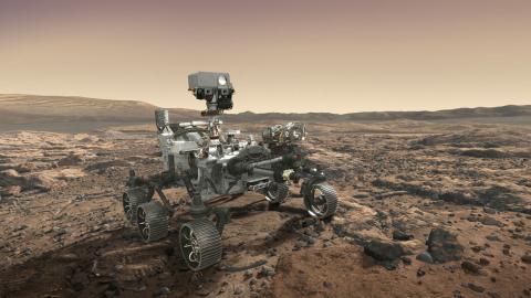오는 7월 로켓에 실려 화성으로 가는 NASA의 탐사 로보 '마스 2020'.  화성 생명체의 흔적을 정밀 탐사한 후 토양 시료 등을 보관했다가 회수선으로 옮겨 지구로 가져올 수 있게 하는 일을 맡고 있다. ⓒNASA