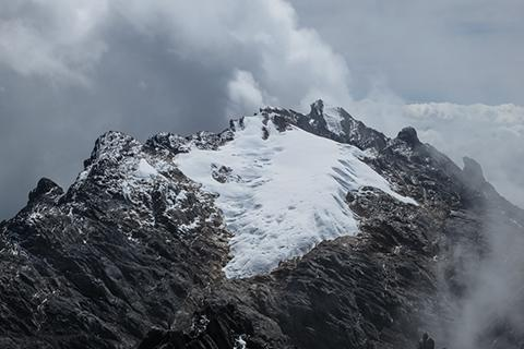 2014년 촬영한 푼착자야 빙하. 과거보다 많이 축소된 상태다. © Adventure Consultant
