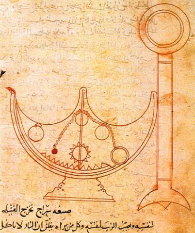 바누 무사 '자동조절램프'  Ⓒ public domain