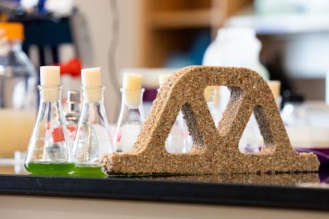 미국 콜로라도대학 연구진은 시아노박테리아를 이용해 자가 재생이 가능한 시멘트를 만드는 데 성공했다. ⓒ College of Engineering & Applied Science, University of Colorado Boulder
