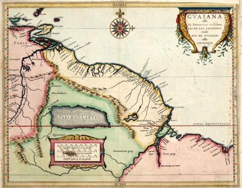 남아메리카의 기아나 17세기 지도.  ⓒ 위키백과