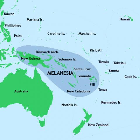 멜라네시아.  ⓒ 위키백과