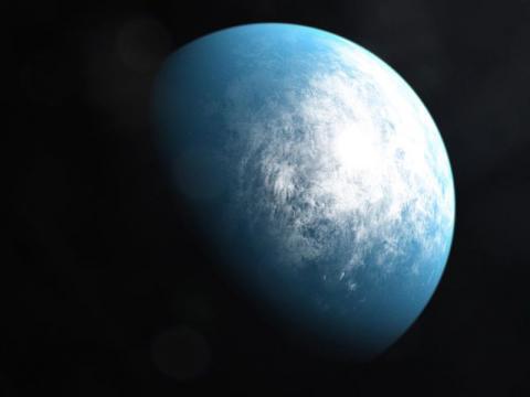 NASA는 지구처럼 생명체가 존재할 가능성이 높은 외계행성 TOI 700d를 발견했다. 사진은 TOI 700d의 상상도. ⓒ NASA's Goddard Space Flight Center