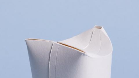 접혀진 상태의 우노컵은 일체형으로 디자인되어 있다 ⓒ Unocup
