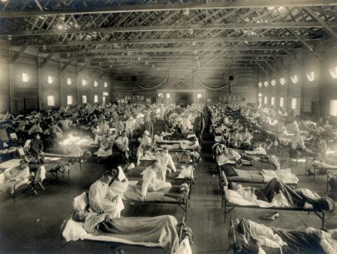 _CID_f_k7zr49q31_CID_Emergency_hospital_during_Influenza_epidemic,_Camp_Funston,_Kansas_-_NCP_1603